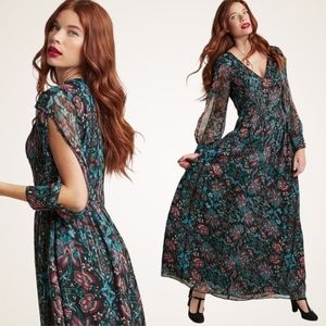 NEW Modcloth Loop Twirl And Arch Floral Maxi Dress